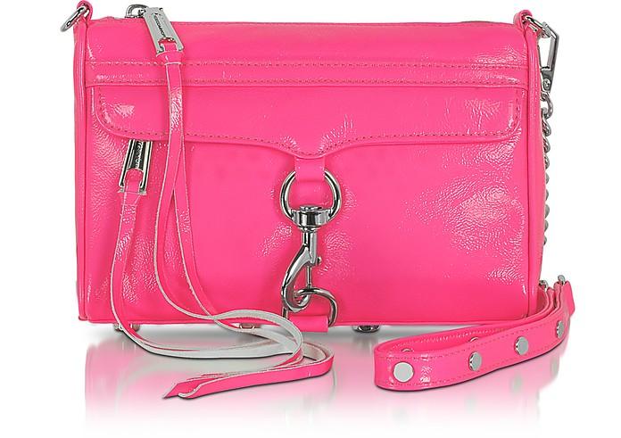 Mini Mac - Fluo Patent Leather Clutch/Shoudler Bag - Rebecca Minkoff