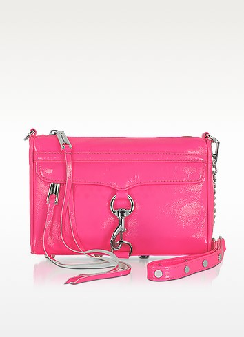 Mini Mac - Fluo Patent Leather Clutch/Shoudler Bag - Rebecca Minkoff