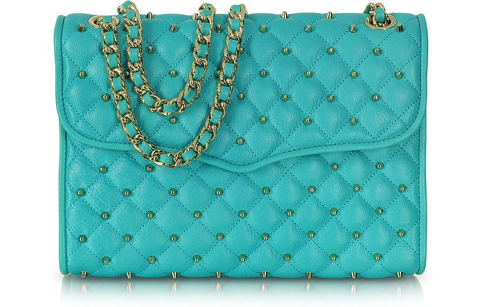 Diamond Quilt Stud Affair Shoulder Bag - Rebecca Minkoff
