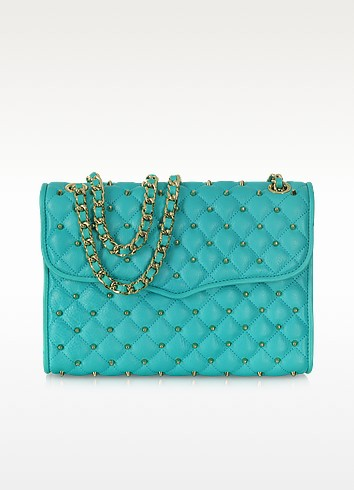 Diamond Quilt Stud Affair Shoulder Bag - Rebecca Minkoff