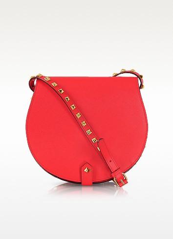 Skylar Bright Red Studded Leather Crossbody Bag - Rebecca Minkoff