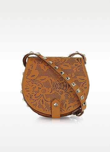 Skylar Mini Brown Perforated Leather Crossbody - Rebecca Minkoff / レベッカ ミンコフ