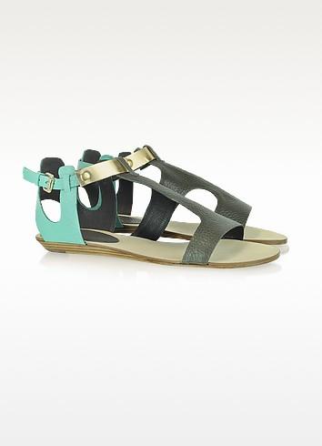 Bardot Color Block Leather Sandal - Rebecca Minkoff