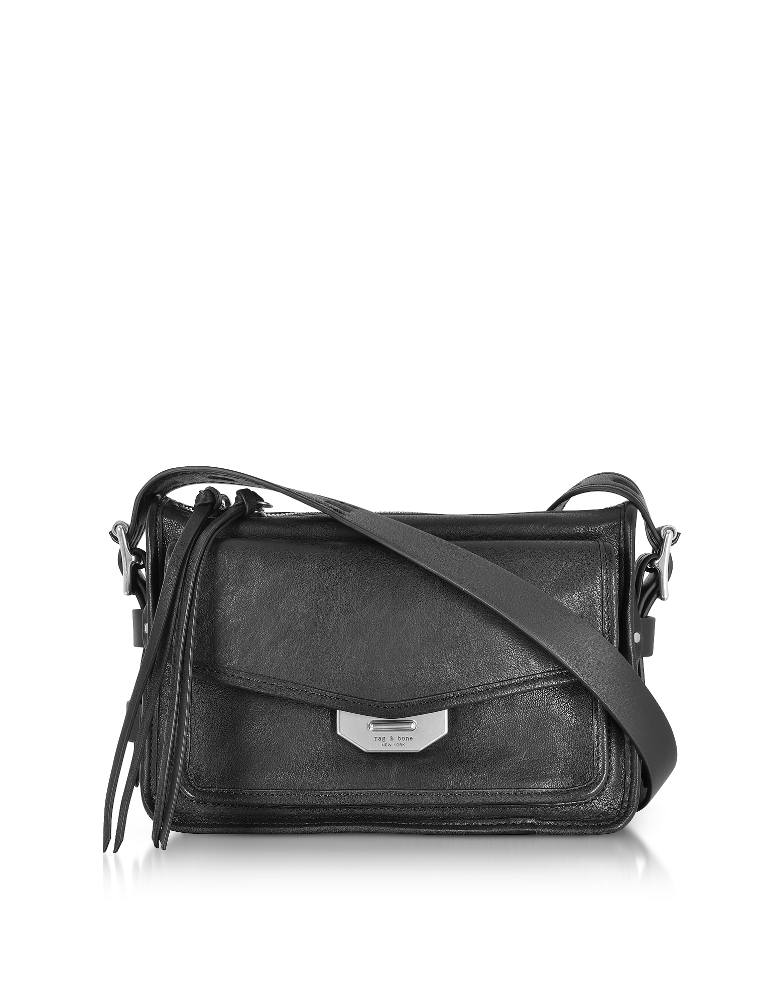 Rag & Bone Handbags, Black Leather Small Field Messenger Bag