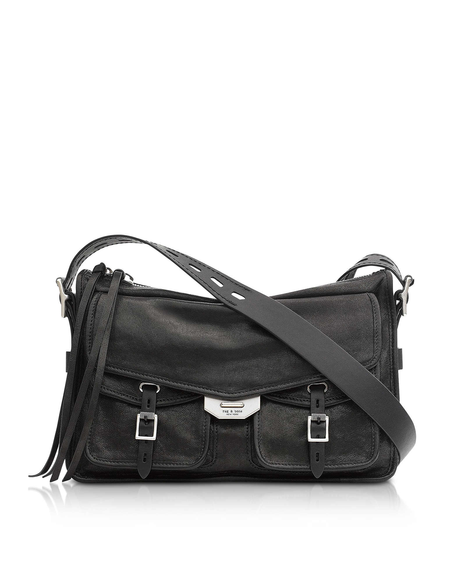 Field Borsa Crossbody in Pelle Nera