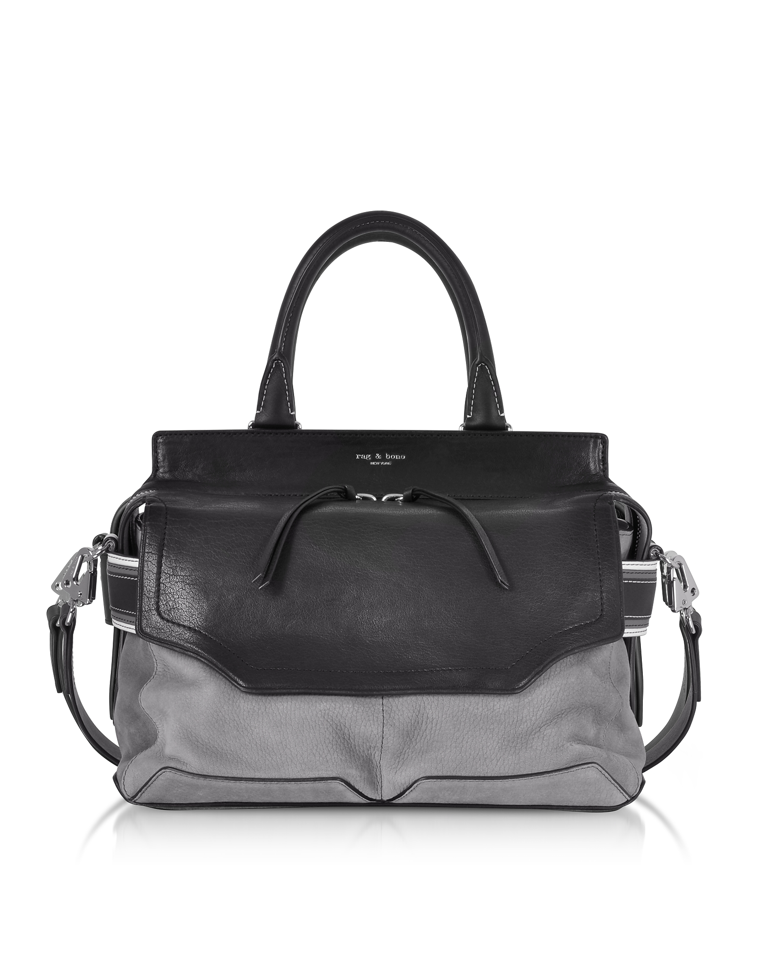 Rag & Bone Handbags, Granite Colorblock Leather Pilot Satchel Bag