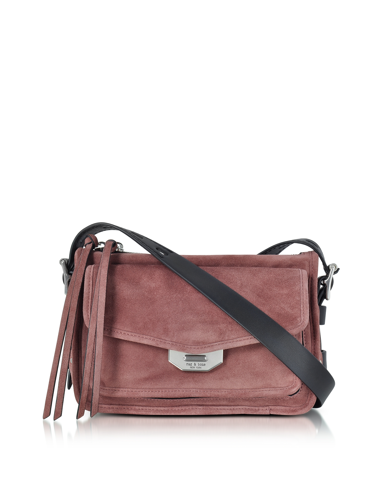 Rag & Bone Handbags, Mauve Suede Small Field Messenger Bag