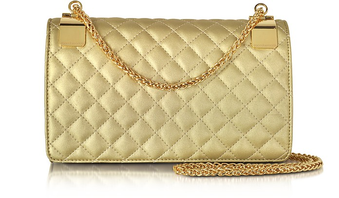 Idillio Golden Quilted Eco leather Shoulder Bag - Roccobarocco