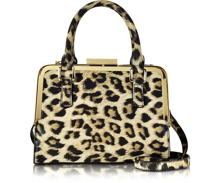 Lyric Animal Print Eco Leather Satchel Bag - Roccobarocco