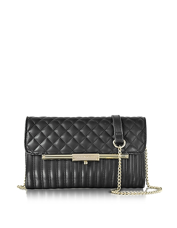 Utopia Black Quilted Eco Leather Crossbody Bag