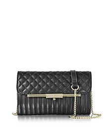 Utopia Black Quilted Eco Leather Crossbody Bag - Roccobarocco