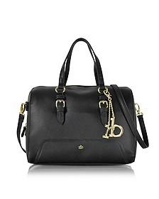 RB - Large Saffiano Eco Leather Top Zip Satchel Bag - Roccobarocco