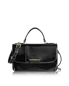 Medium Patent Eco Leather Satchel Bag - Roccobarocco