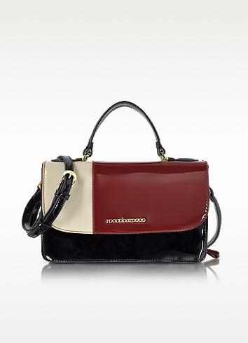 Medium Patent Eco Leather Satchel Bag - Roccobarocco