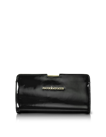 Roccobarocco - Signature Patent Eco Leather Clutch