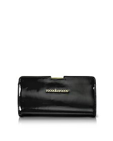 Signature Patent Eco Leather Clutch - Roccobarocco