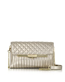 Laminated Quilted Eco Leather Clutch - Roccobarocco