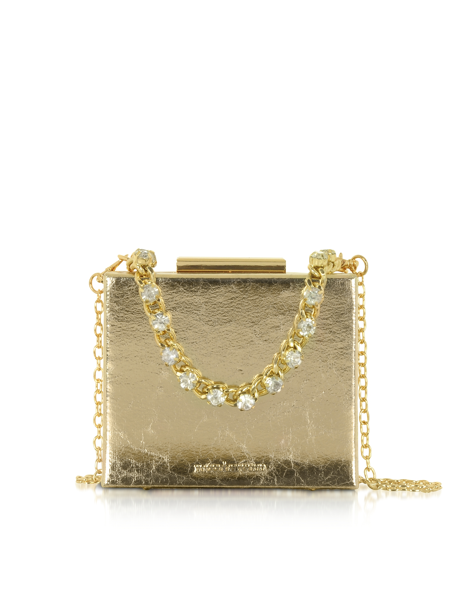 Roccobarocco Designer Handbags, Churro Laminated Eco-Leather Shoulder Bag