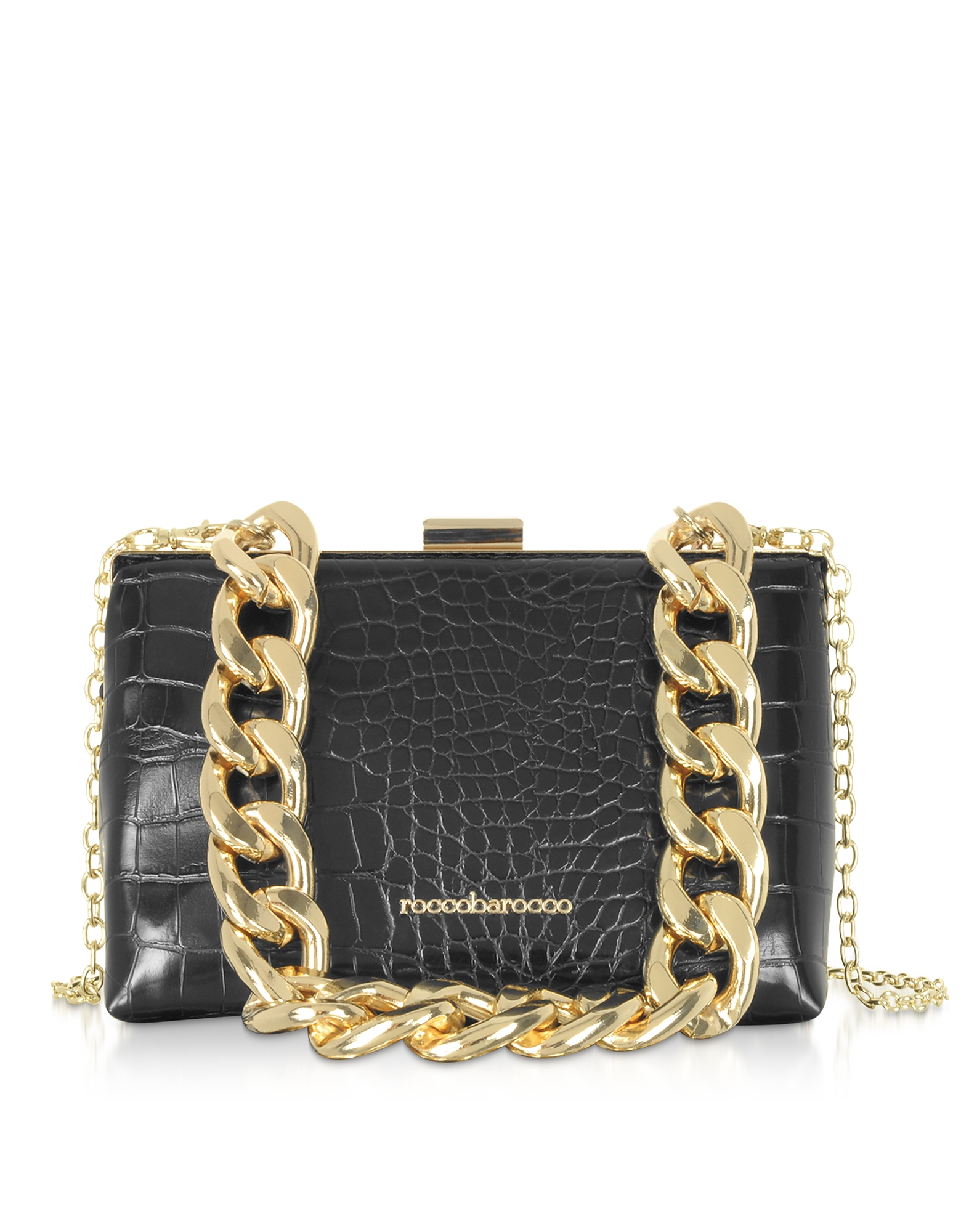 Pita Croco Embossed Eco-Leather Shoulder Bag