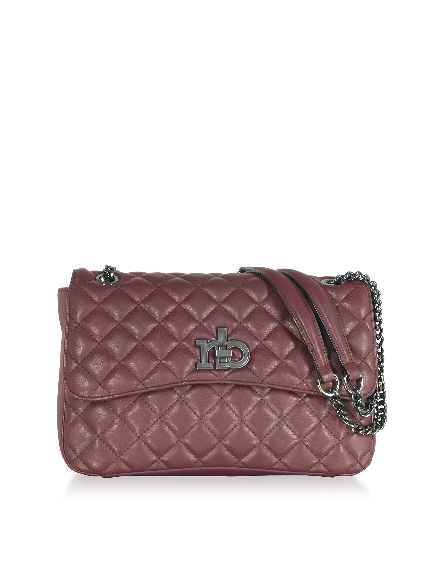 Roccobarocco Designer Handbags, RB Releve Quilted Eco Leather Shoulder Bag