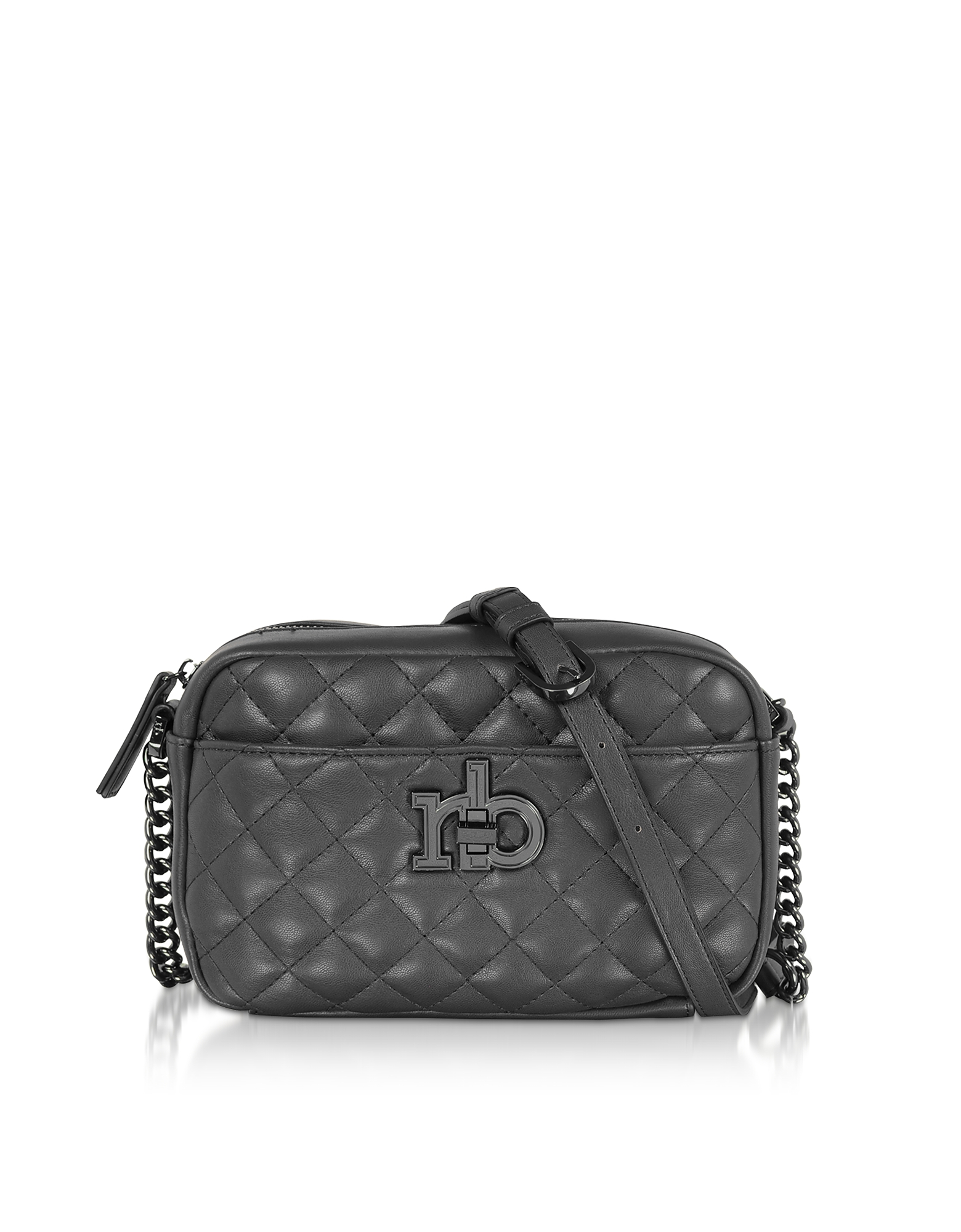 Roccobarocco Designer Handbags, RB Releve Quilted Eco Leather Camera Bag