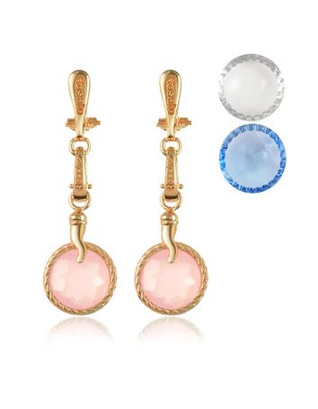 Rosato 3 Stars Collection - Princess Interchangeable Gemstone Earrings