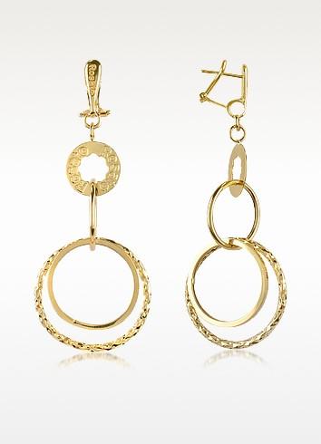 Allure - 18k Yellow Gold Round Drop Earrings - Rosato