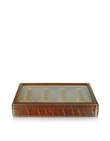Brown Leather Four-Watch Box