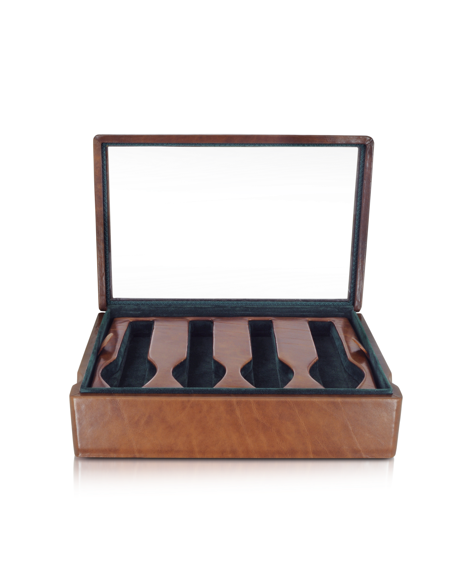 Image of Brown Leather Eight-Watch Box