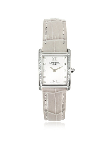 Raymond Weil - Don Giovanni - Diamond Frame & Satin Light Blue Band Dress Watch