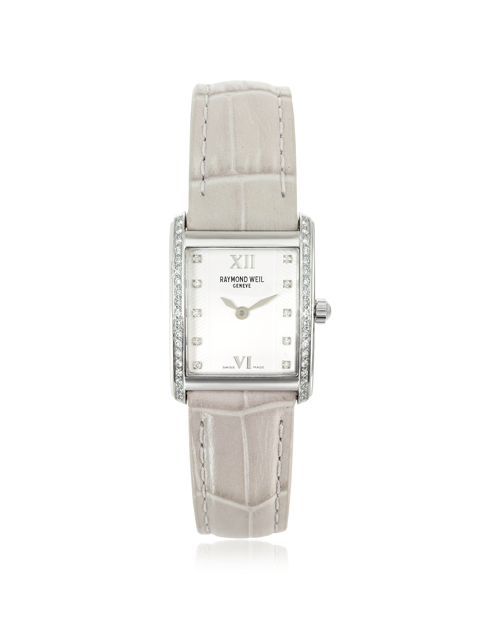 Raymond Weil Women's Watches, Don Giovanni - Diamond Frame & Satin Light Blue Band Dress Watch