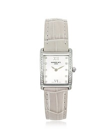 Don Giovanni - Diamond Frame & Satin Light Blue Band Dress Watch - Raymond Weil
