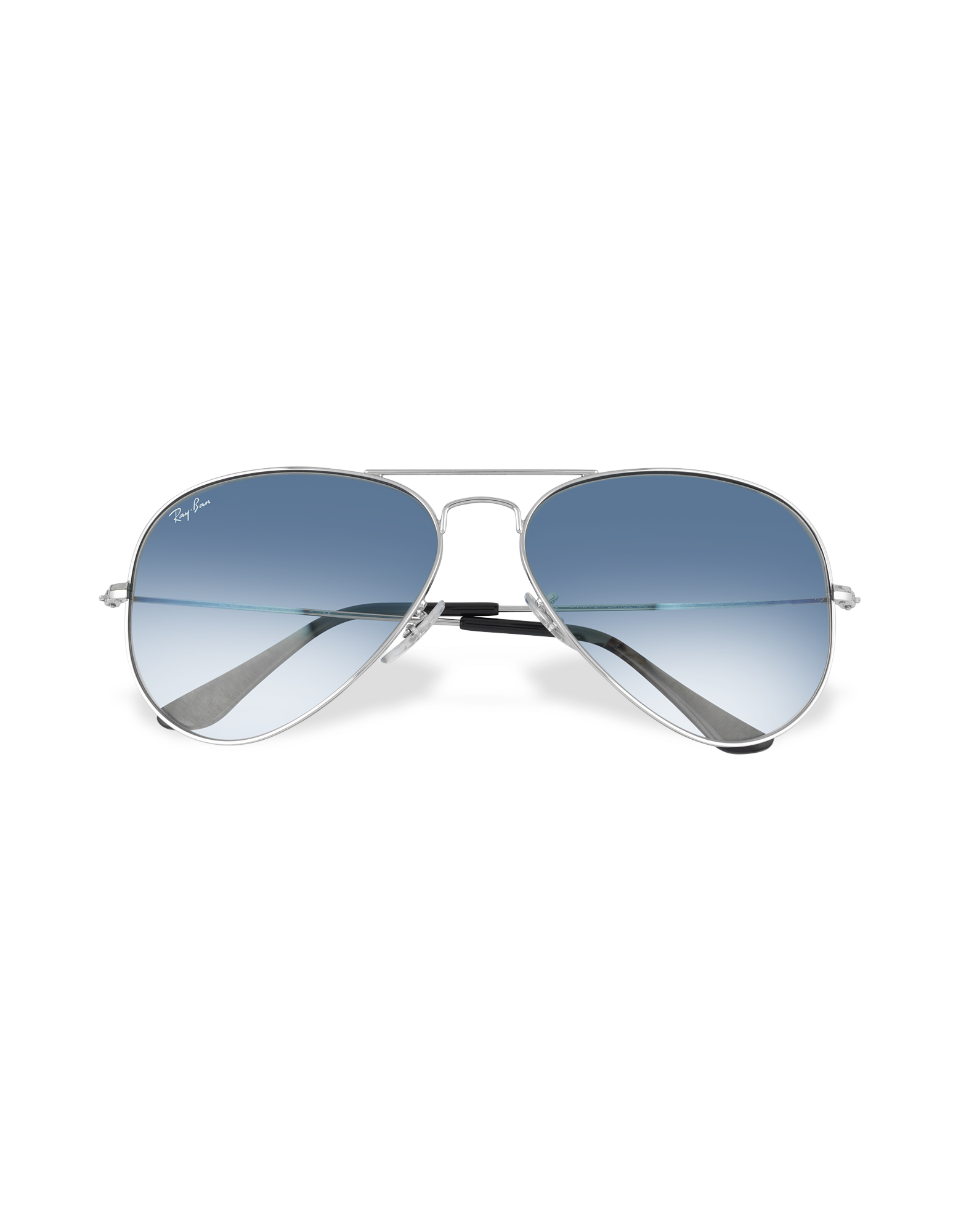 Image of Aviator - Silvertone Metal Sunglasses