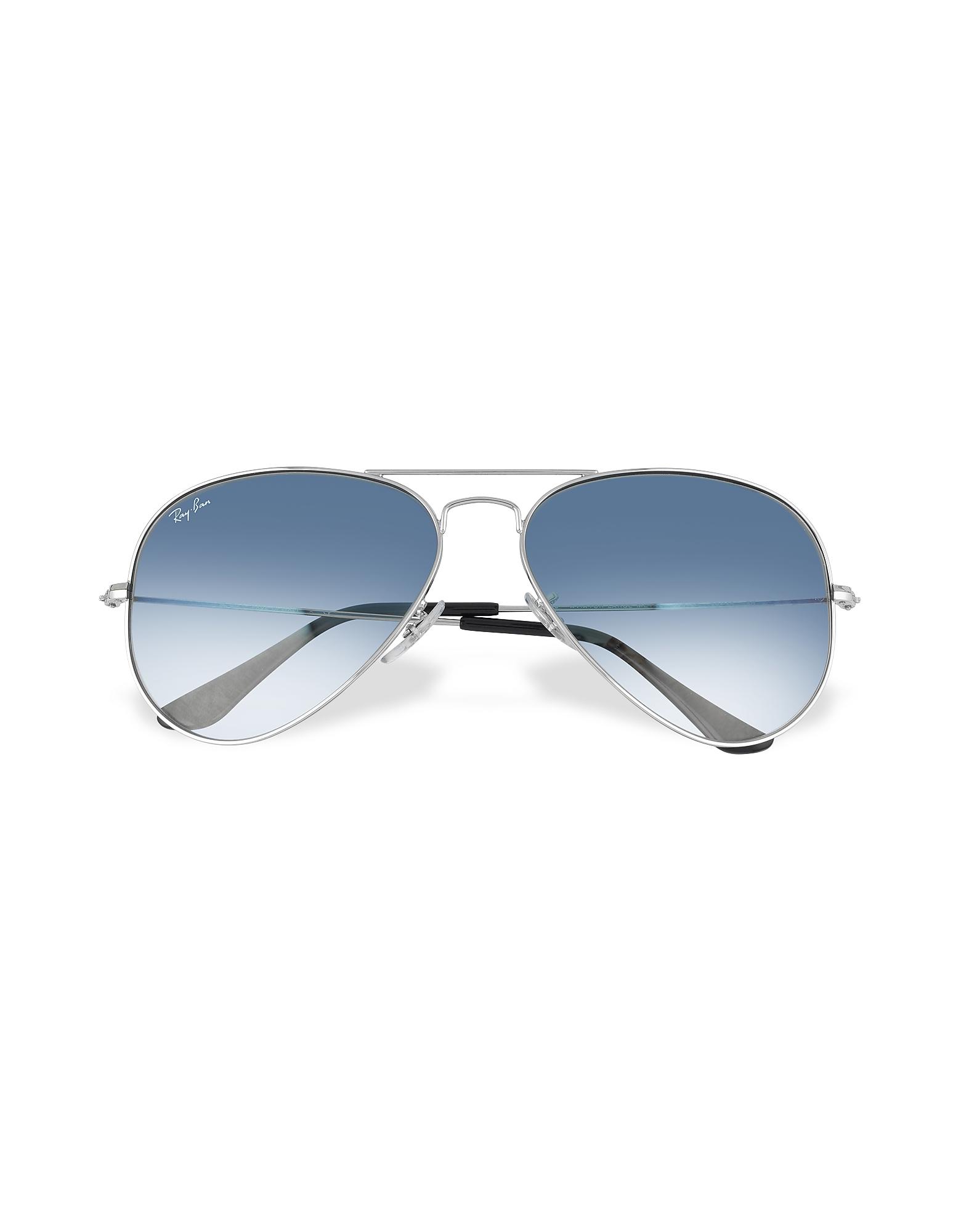 Ray Ban Sunglasses, Aviator - Silvertone Metal Sunglasses