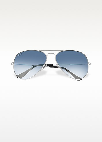 Aviator - Silvertone Metal Sunglasses - Ray Ban