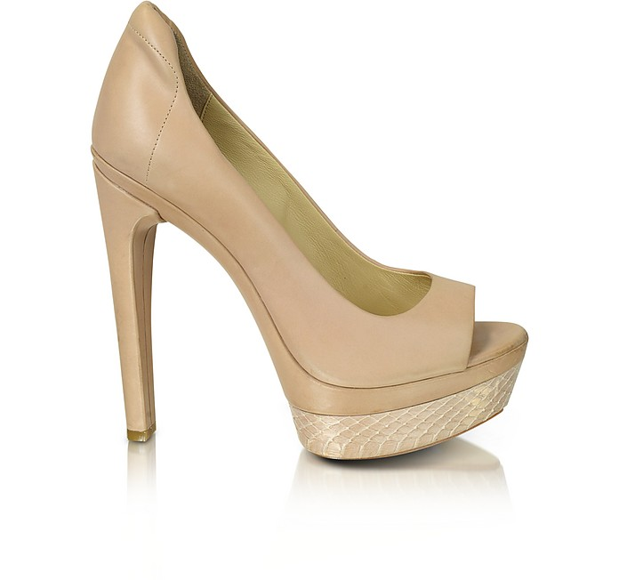 Alyssa - Leather Peep-toe Pump  - Rachel Zoe