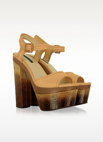 Evelyn - Leather Platform Sandal - Rachel Zoe