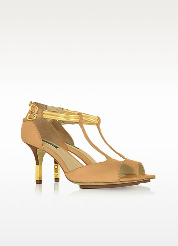 Nicole - Two-Tone Leather Sandal - Rachel Zoe
