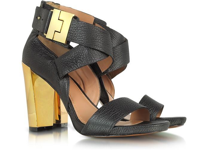 Brooklyn Black Leather Sandal - Rachel Zoe