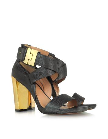 Brooklyn Black Leather Sandal Sandal
