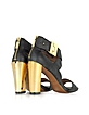 Brooklyn Black Leather Sandal - Rachel Zoe