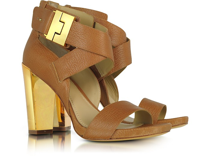 Brooklyn Camel Brown Leather Sandal - Rachel Zoe