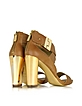 Brooklyn Camel Brown Leather Sandal - Rachel Zoe