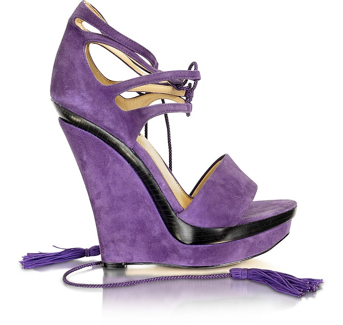 Kayne - Purple Suede Wedge - Rachel Zoe