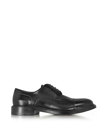 Santoni - Oscar Black Leather Derby Shoes