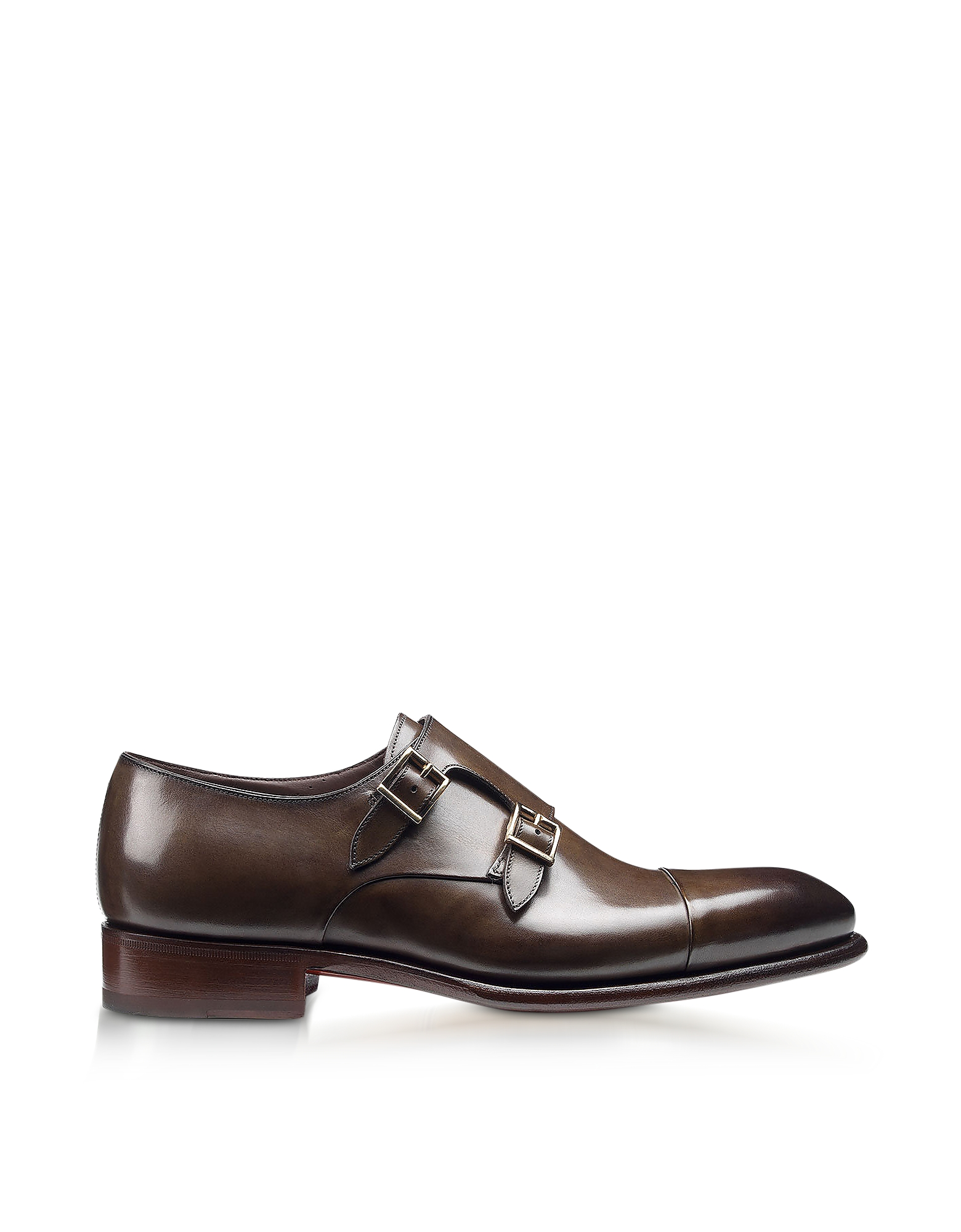Wilson Dark Brown Leather Monk Strap Shoes