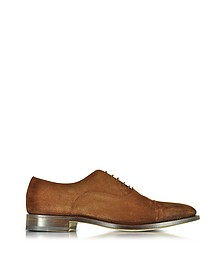 Brown Suede Oxford Shoes  - Santoni