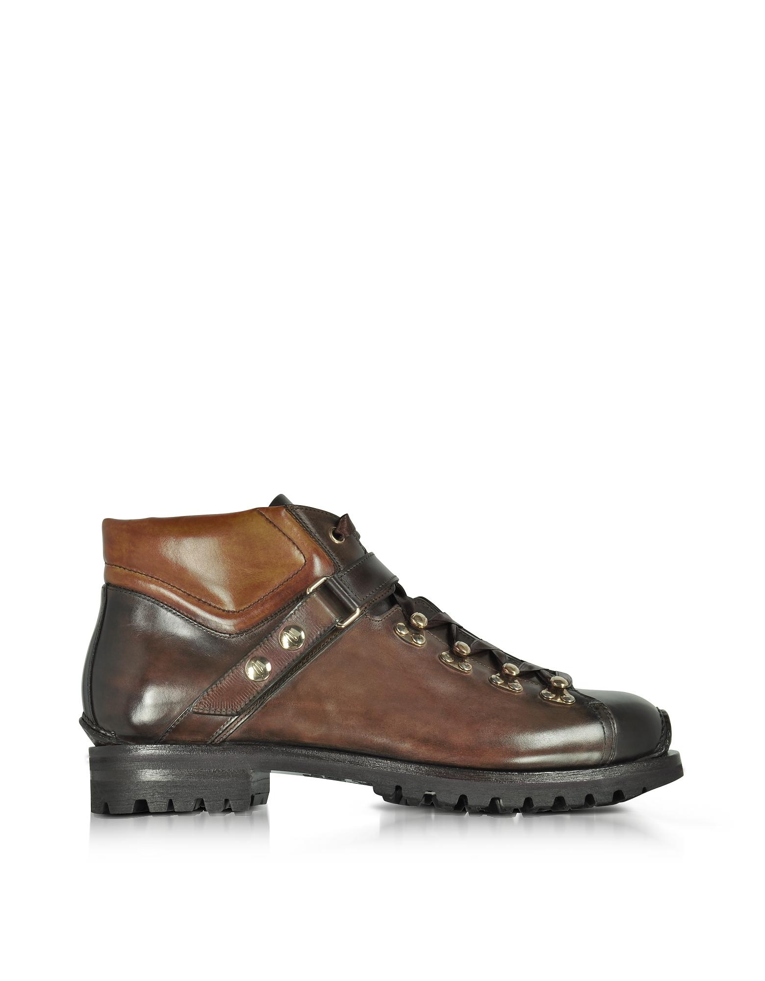 Santoni Shoes, Color Block Leather Men's Ankle Boots
