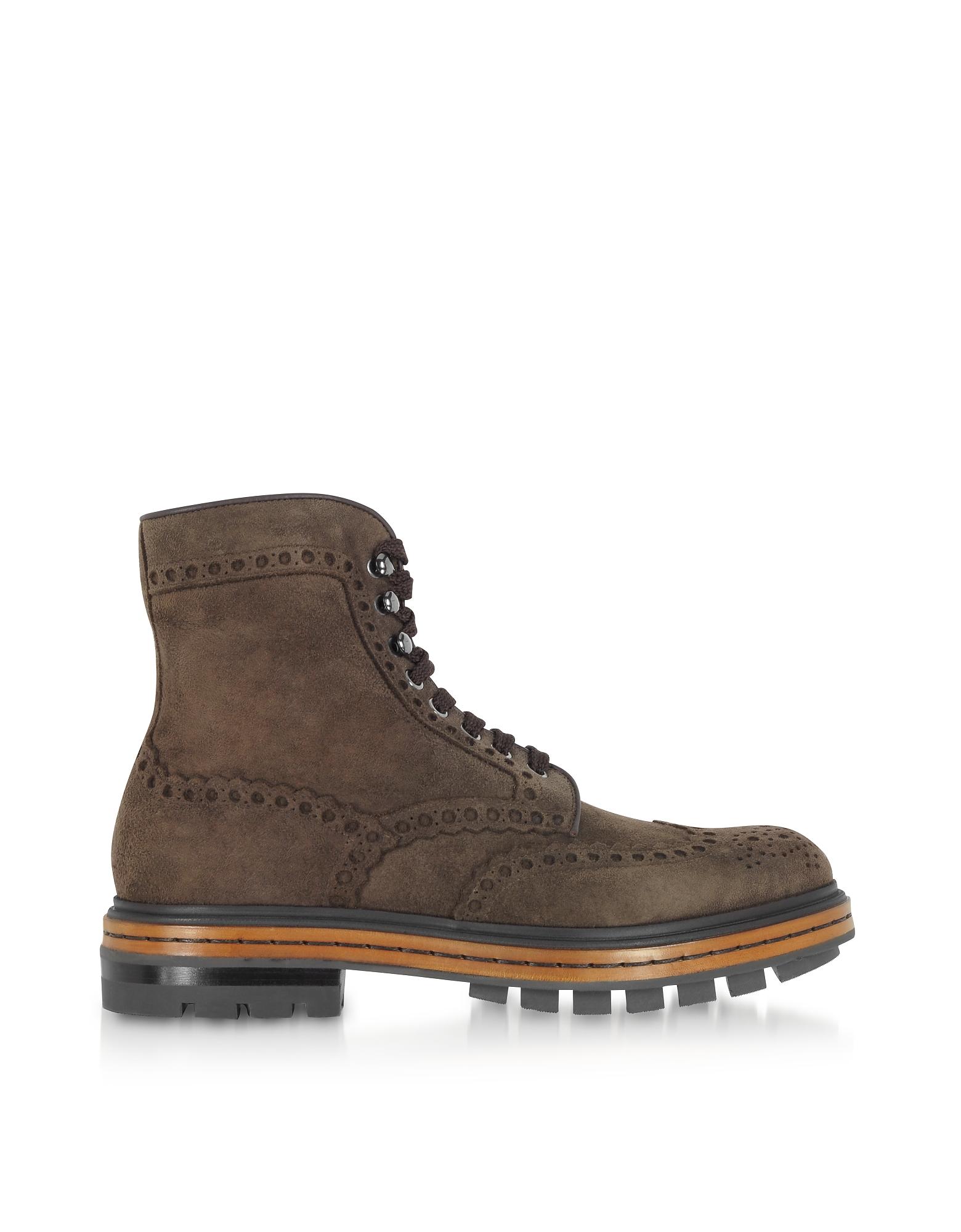Brown Deer Suede Men's Boots