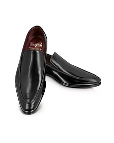 Cricket Black Leather Loafer - Fratelli Borgioli